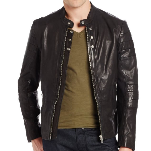 Diesel Men's Ayme Leather Jacket