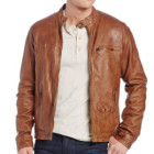 Lucky Brand Men's Salt Flats Leather Moto Jacket
